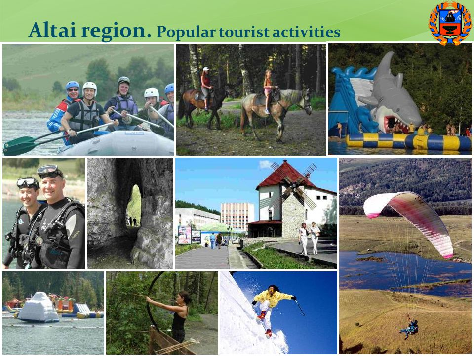 Altai region. Popular tourist activities