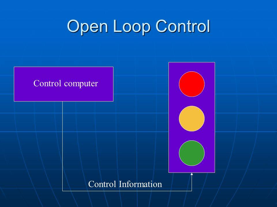 Open Loop Control Control computer Control Information