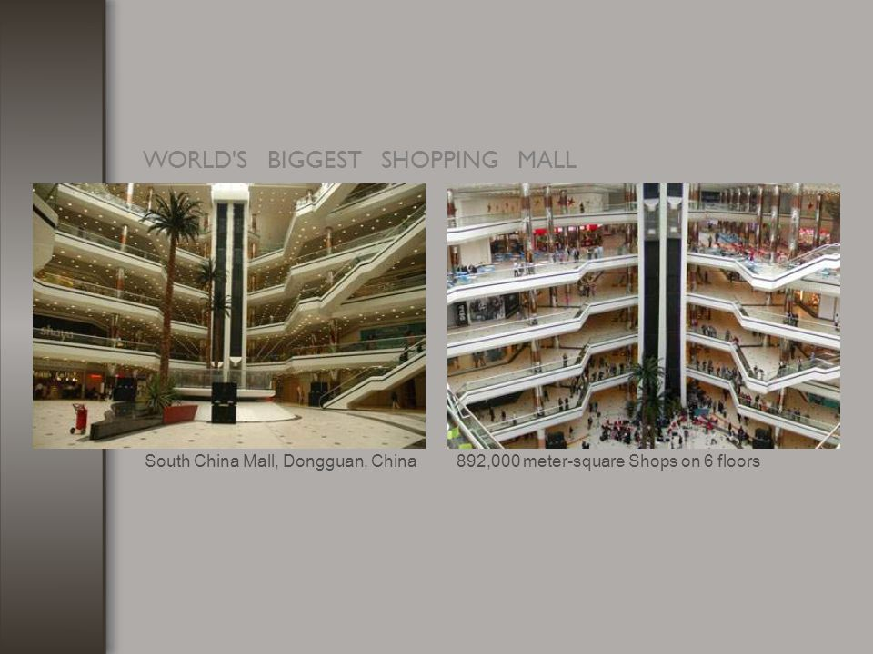 WORLD'S BIGGEST SHOPPING MALL