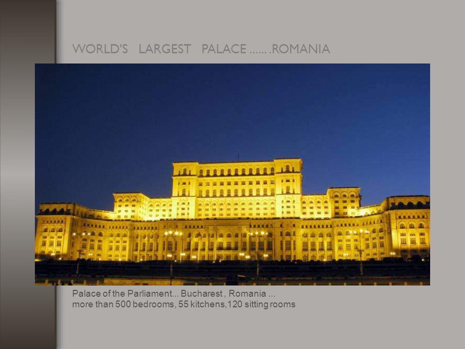 WORLD S LARGEST PALACE.......ROMANIA