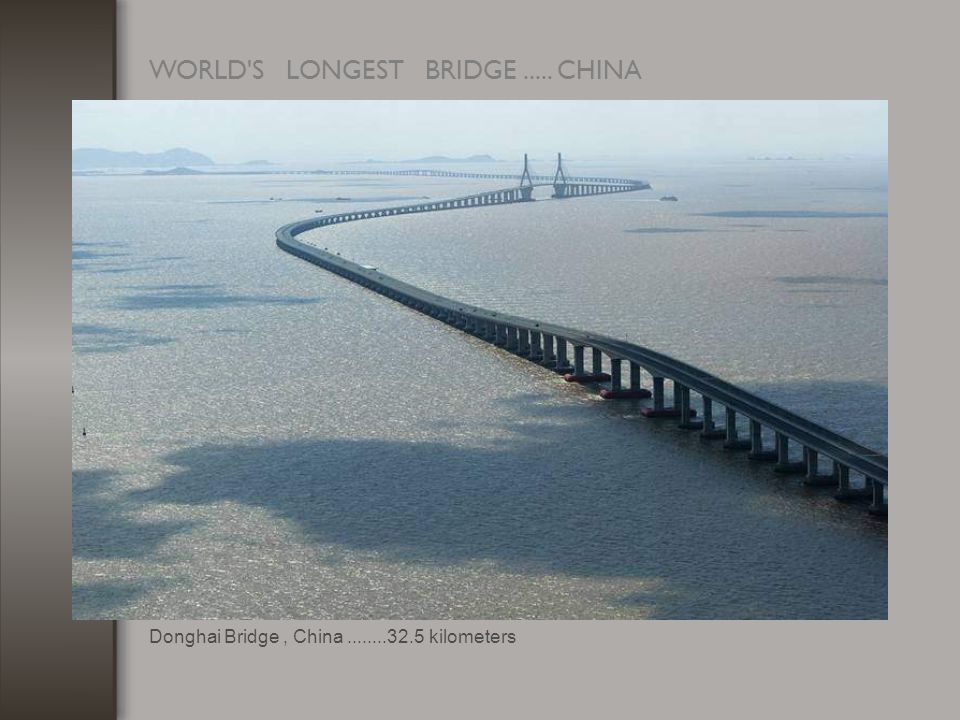 WORLD S LONGEST BRIDGE..... CHINA