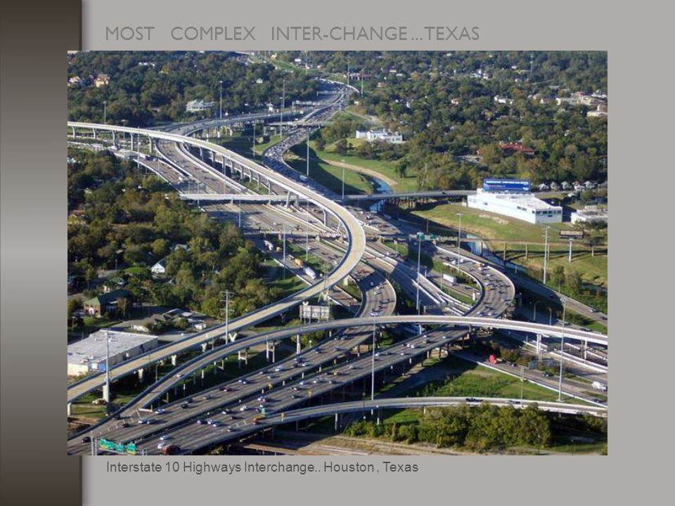 MOST COMPLEX INTER-CHANGE... TEXAS