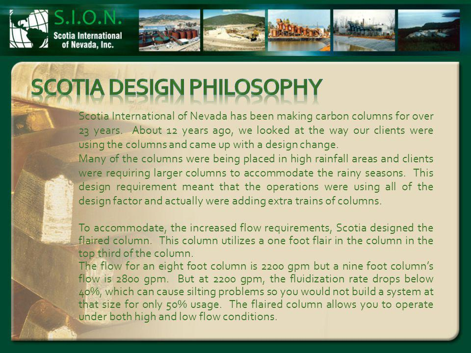 Scotia International of Nevada has been making carbon columns for over 23 years.