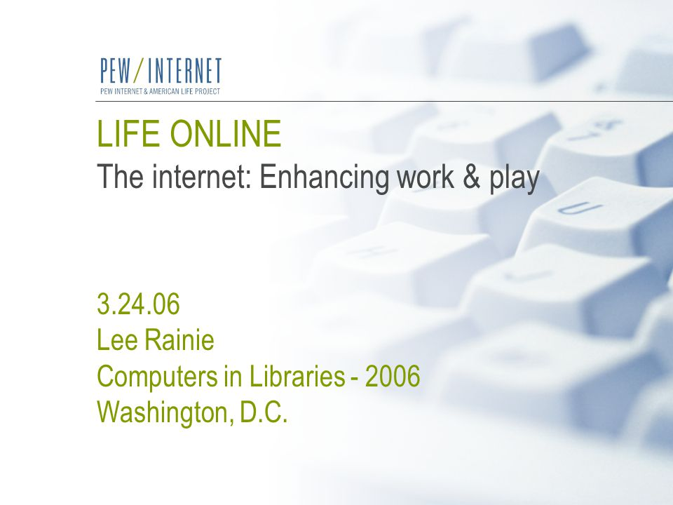 Life Online March 24, 200612 Kaiser Family Foundation, Generation M, March 2005 82 46 87