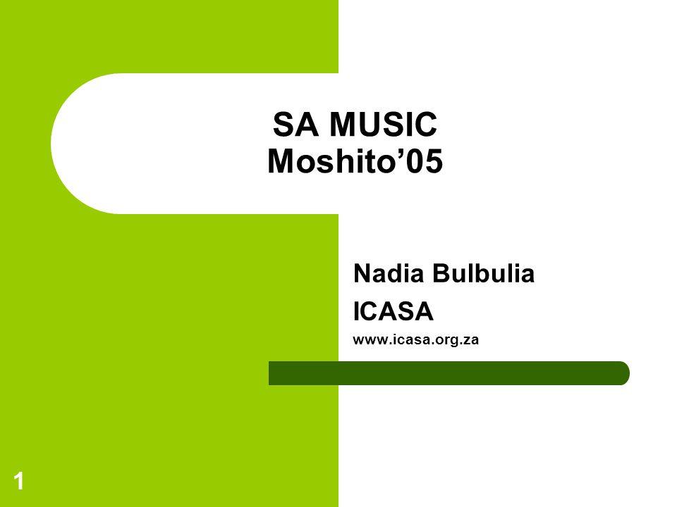 1 SA MUSIC Moshito05 Nadia Bulbulia ICASA www.icasa.org.za