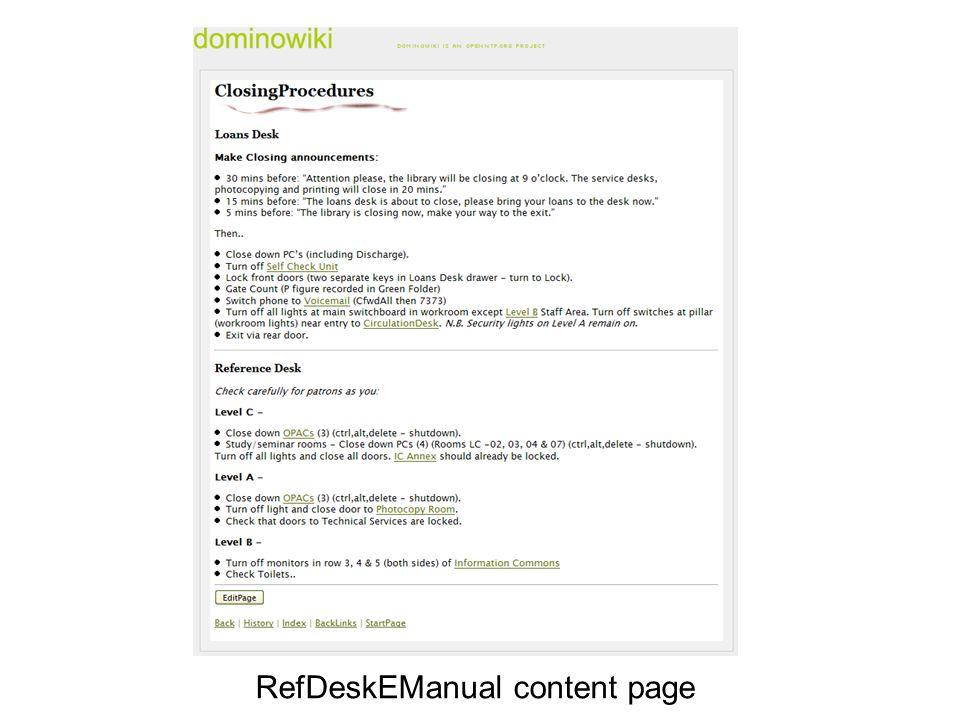 RefDeskEManual content page