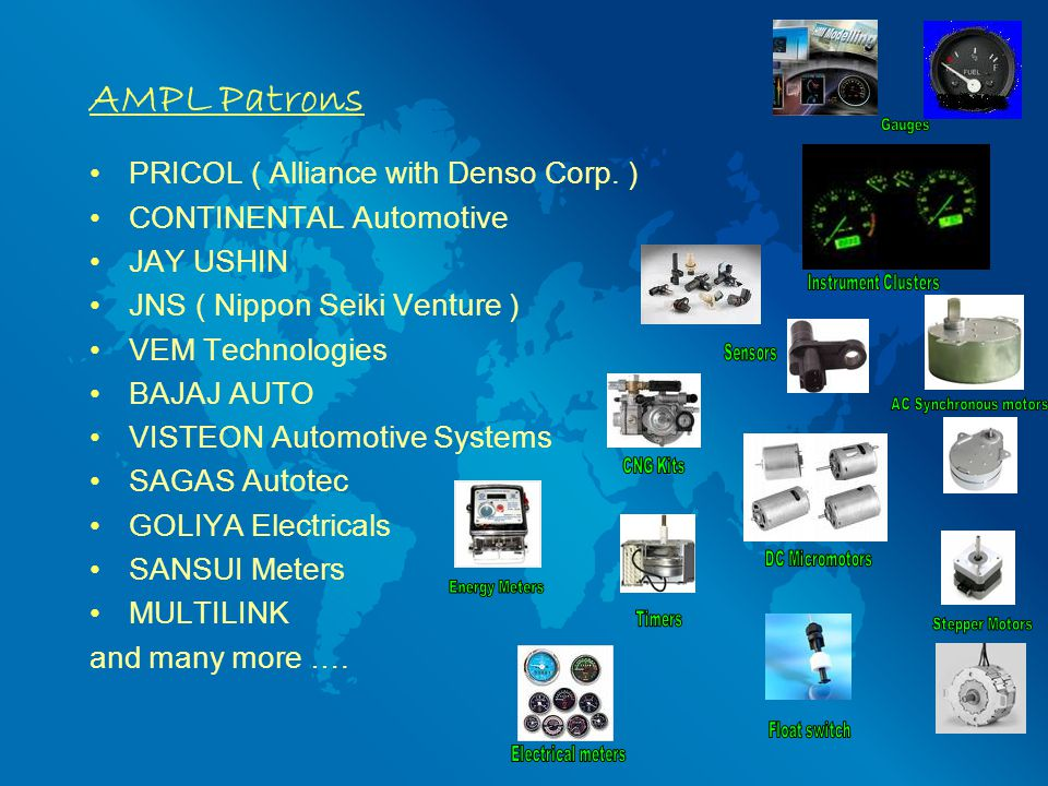 AMPL Patrons PRICOL ( Alliance with Denso Corp.