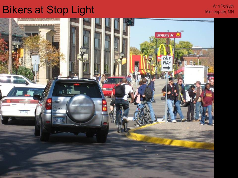www.annforsyth.net Bikers at Stop Light Ann Forsyth Minneapolis, MN