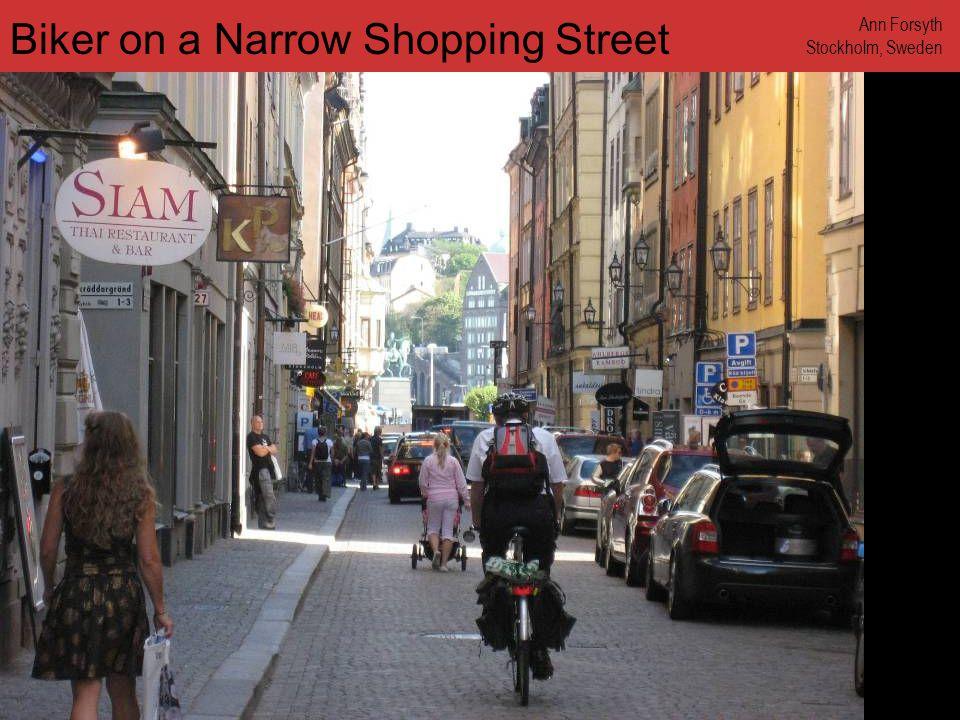 www.annforsyth.net Bikers Stopped at Crosswalk Ann Forsyth Stockholm, Sweden