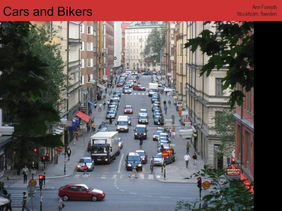 www.annforsyth.net Man in Bike Lane Ann Forsyth Stockholm, Sweden