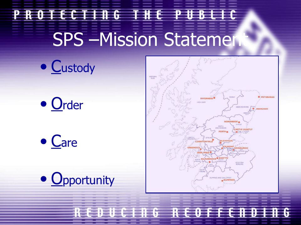 SPS –Mission Statement C ustody O rder C are O pportunity