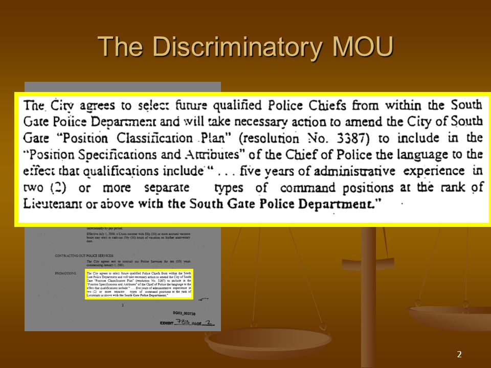 2 The Discriminatory MOU