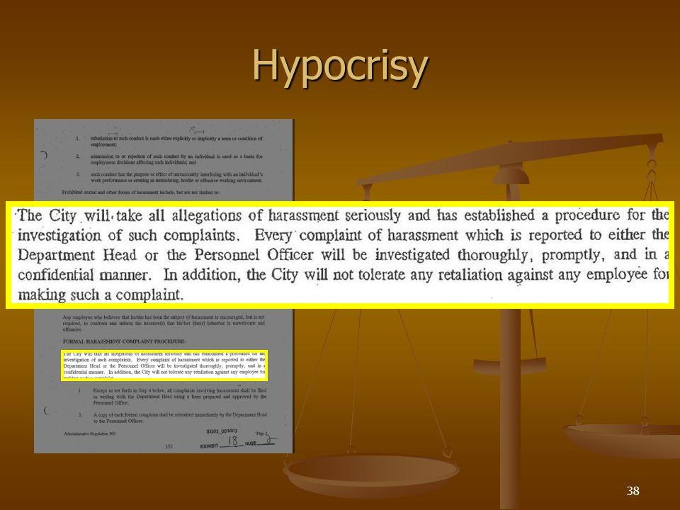 38 Hypocrisy