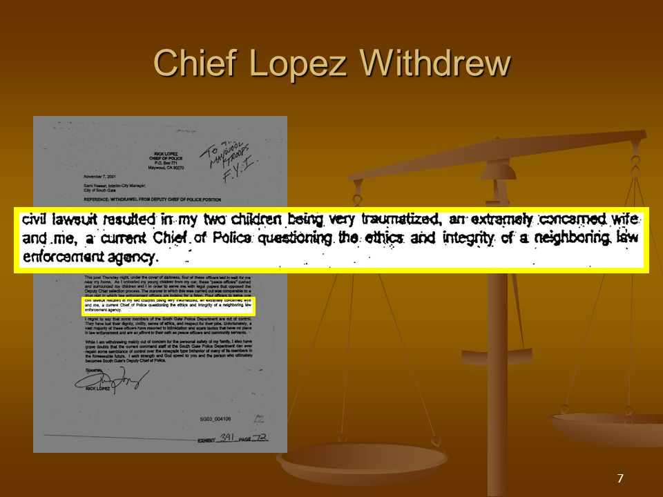 7 Chief Lopez Withdrew