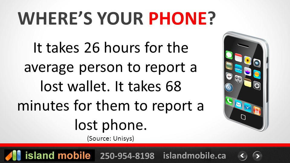 250-954-8198 islandmobile.ca WHERES YOUR PHONE.