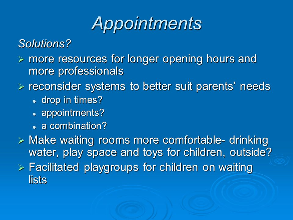 Appointments Solutions.