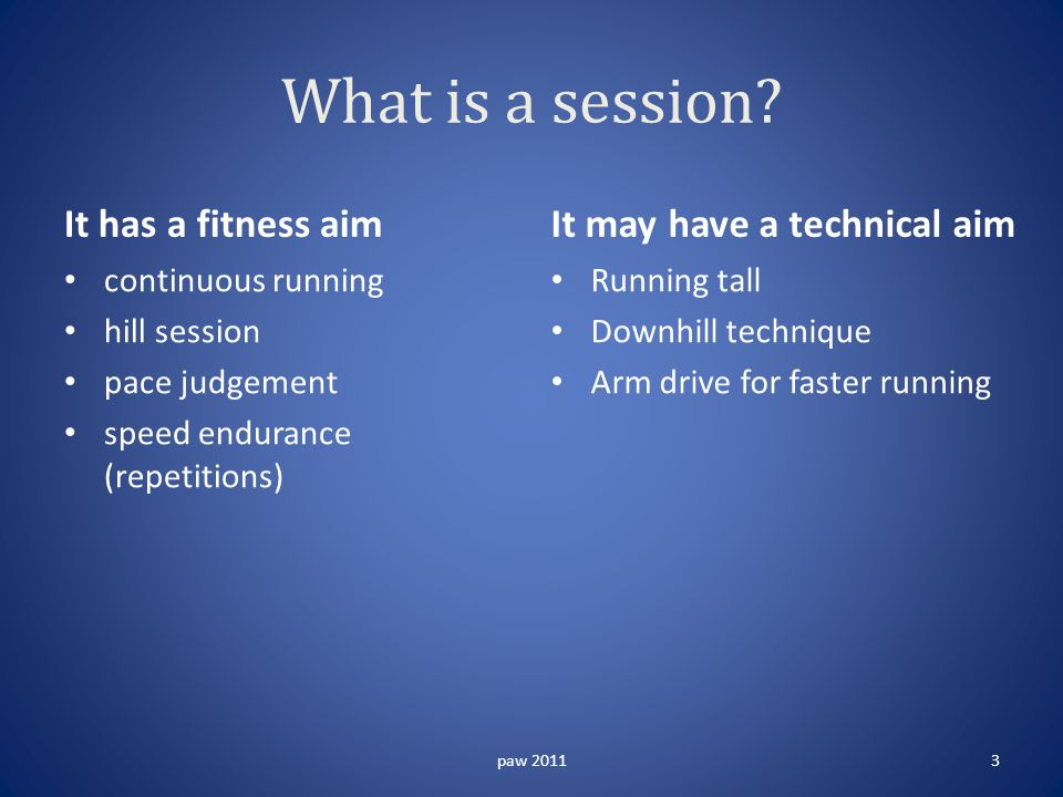 What is a session.