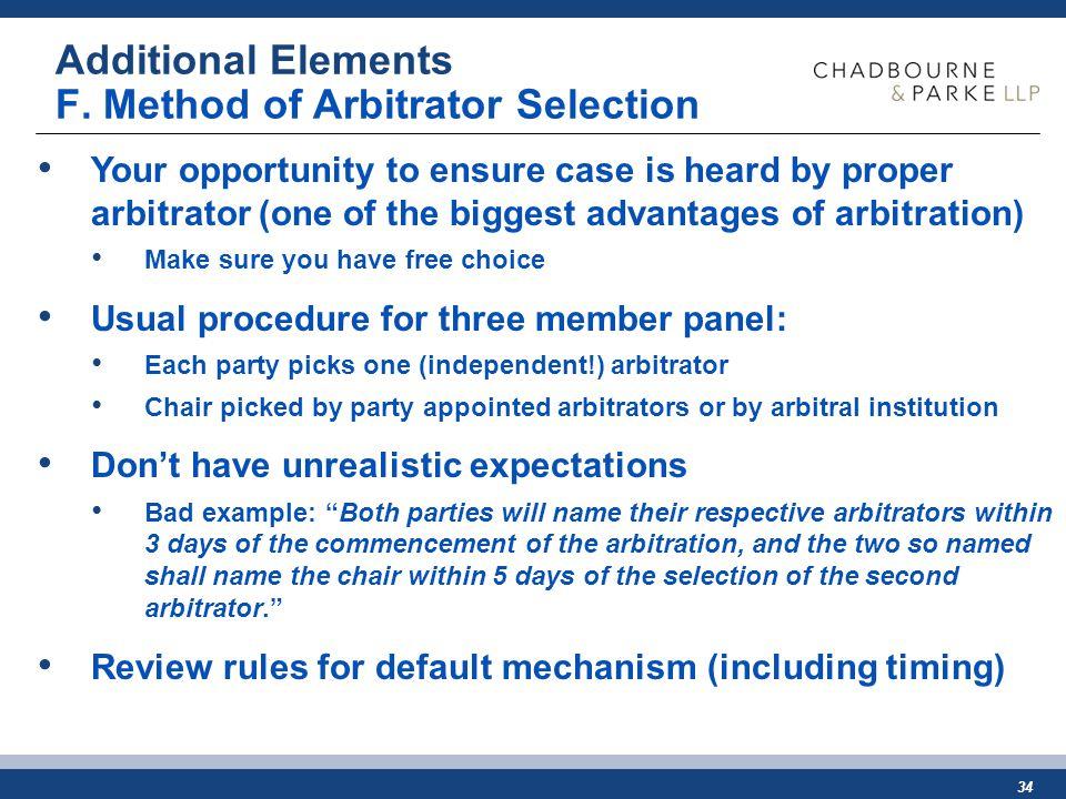 34 Additional Elements F.