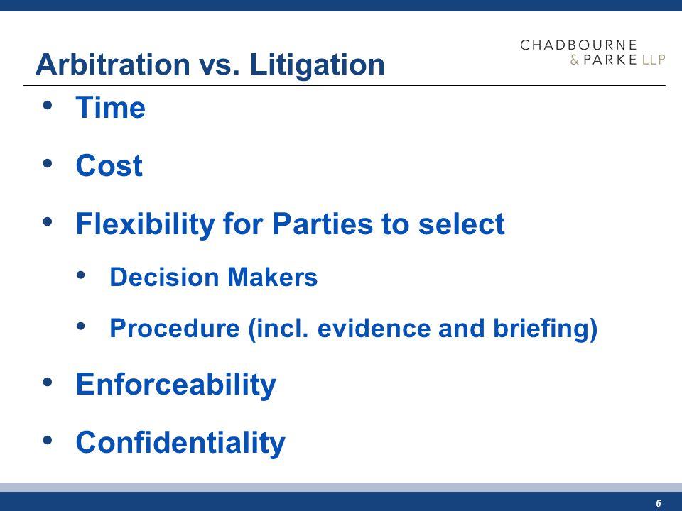 6 Arbitration vs.