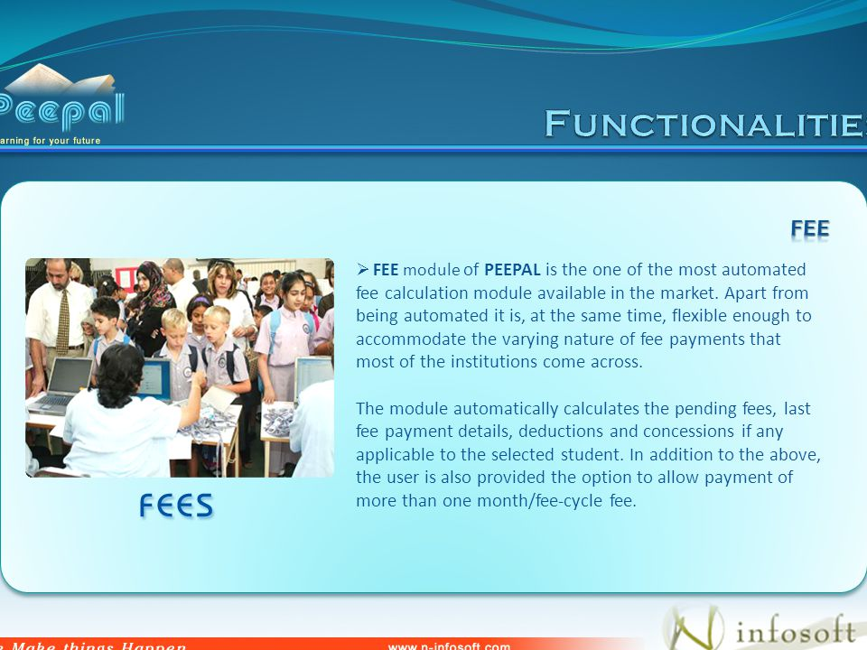 FEE module of PEEPAL is the one of the most automated fee calculation module available in the market.