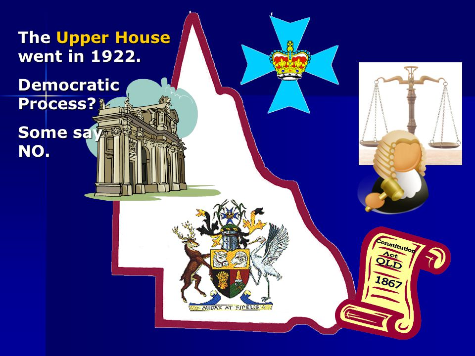 The Upper House went in 1922. Democratic Process? Some say NO.