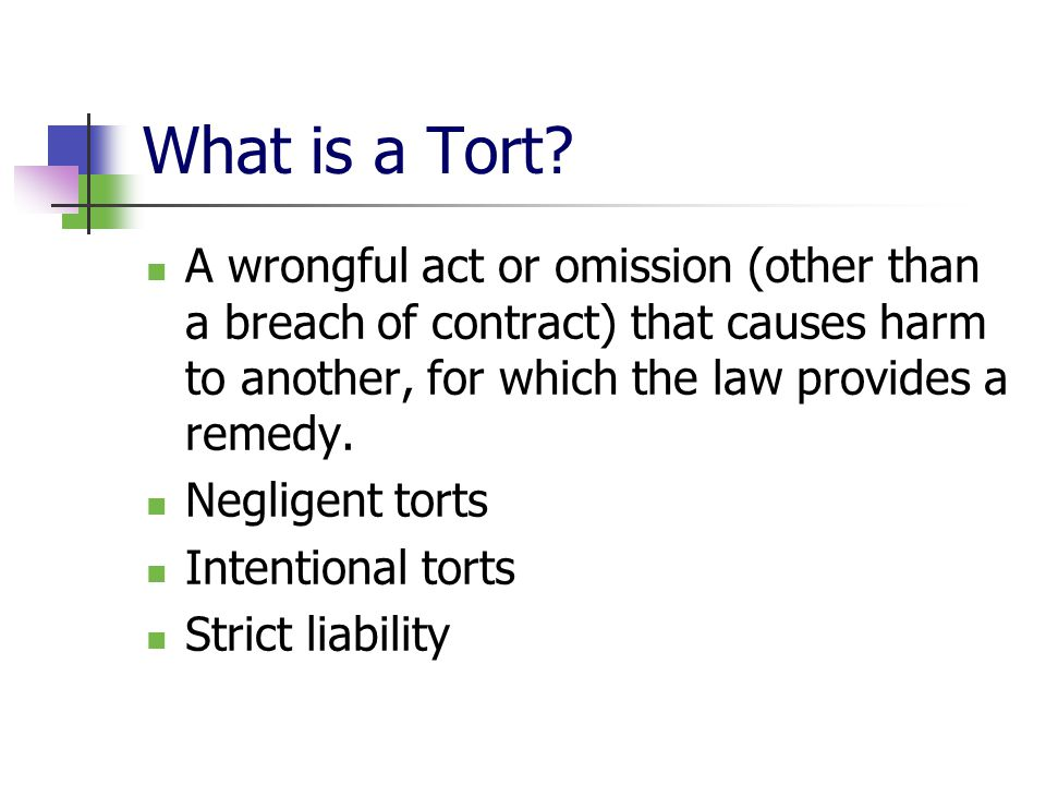 What is a Tort.
