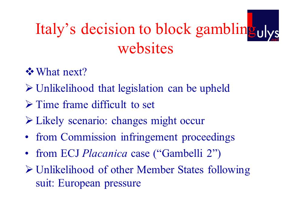 Italys decision to block gambling websites What next.