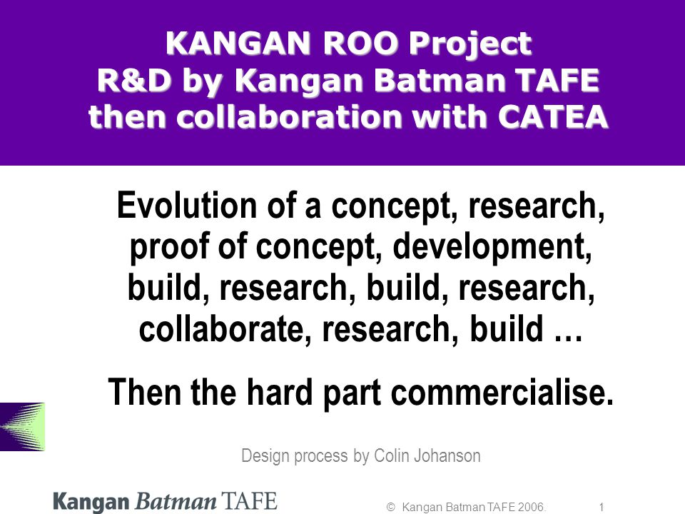 © Kangan Batman TAFE 2006.