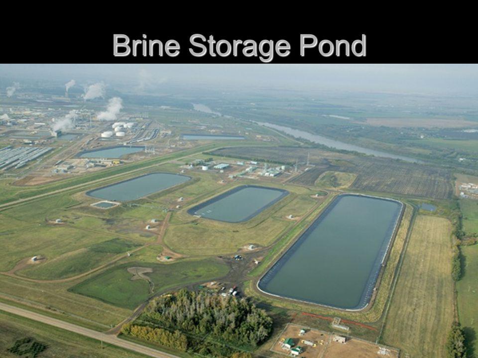 Brine Storage Pond