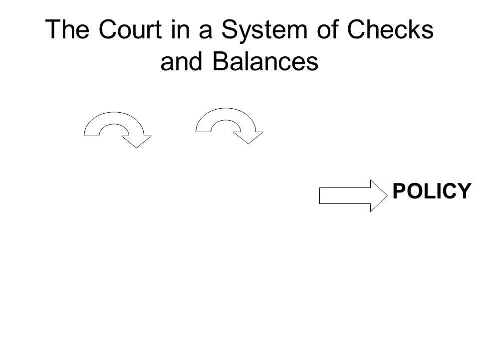 The Court in a System of Checks and Balances POLICY