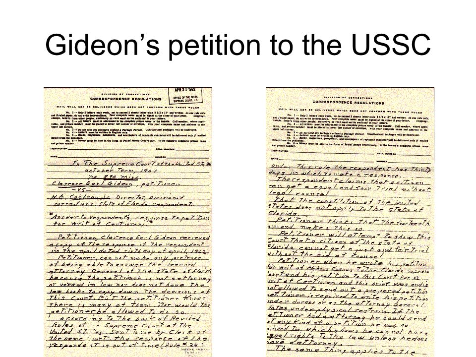 Gideons petition to the USSC