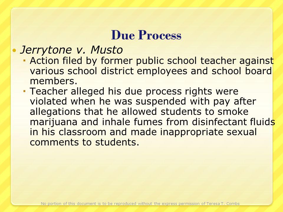 Due Process Jerrytone v.