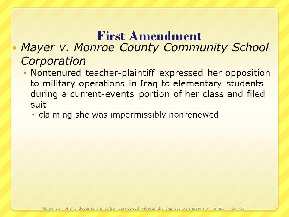 First Amendment Mayer v.