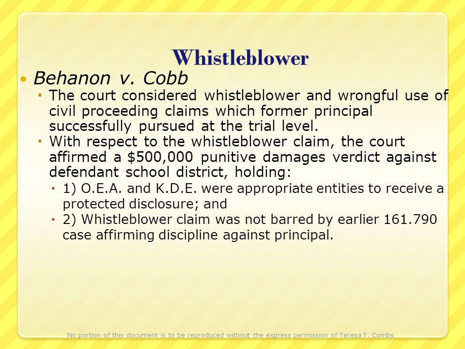 Whistleblower Behanon v.