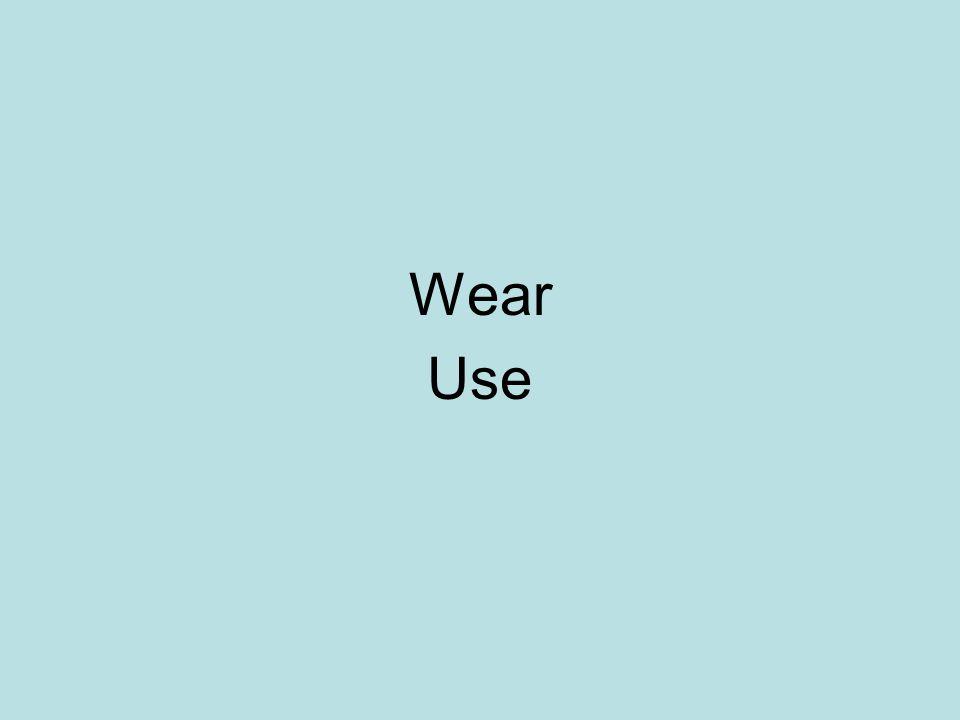 Wear Use