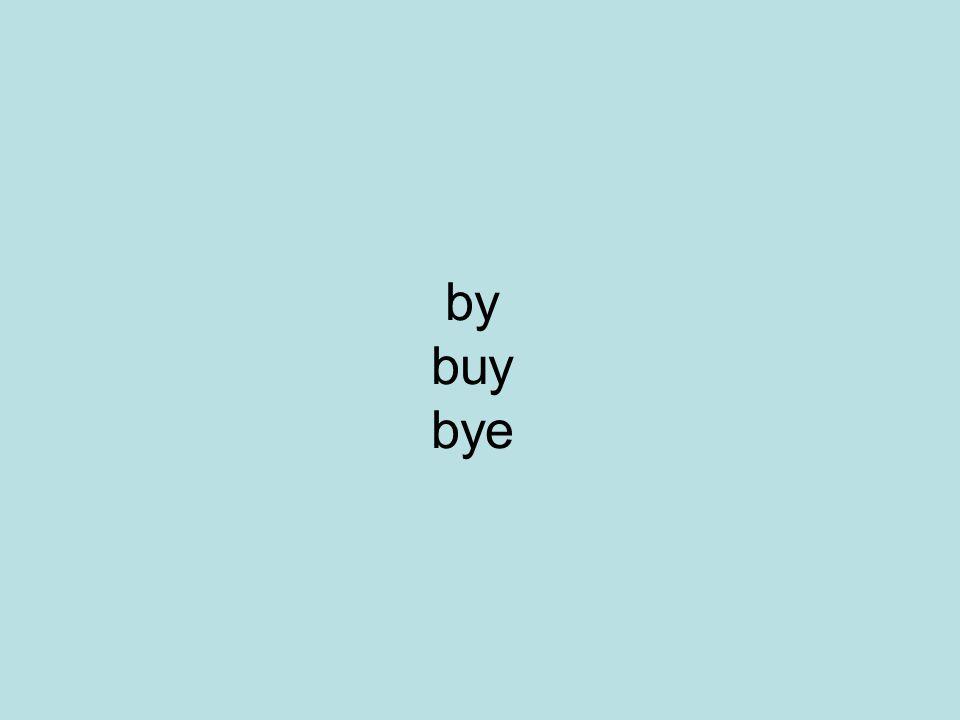 by buy bye