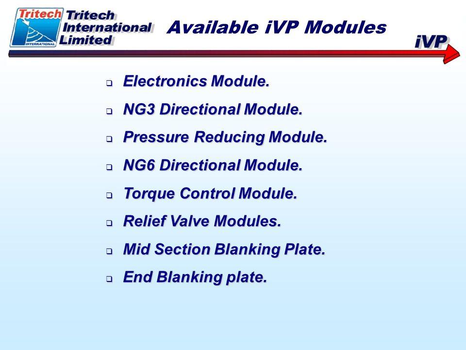 Electronics Module. Electronics Module. NG3 Directional Module. NG3 Directional Module. Pressure Reducing Module. Pressure Reducing Module. NG6 Direct