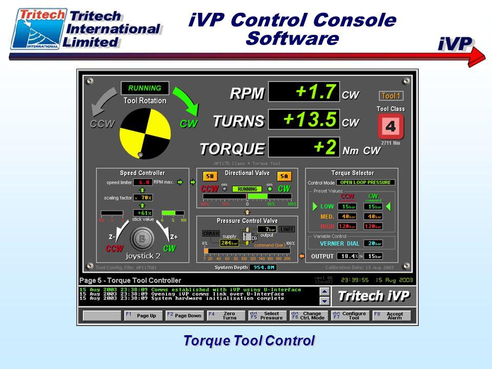 Torque Tool Control iVP Control Console Software