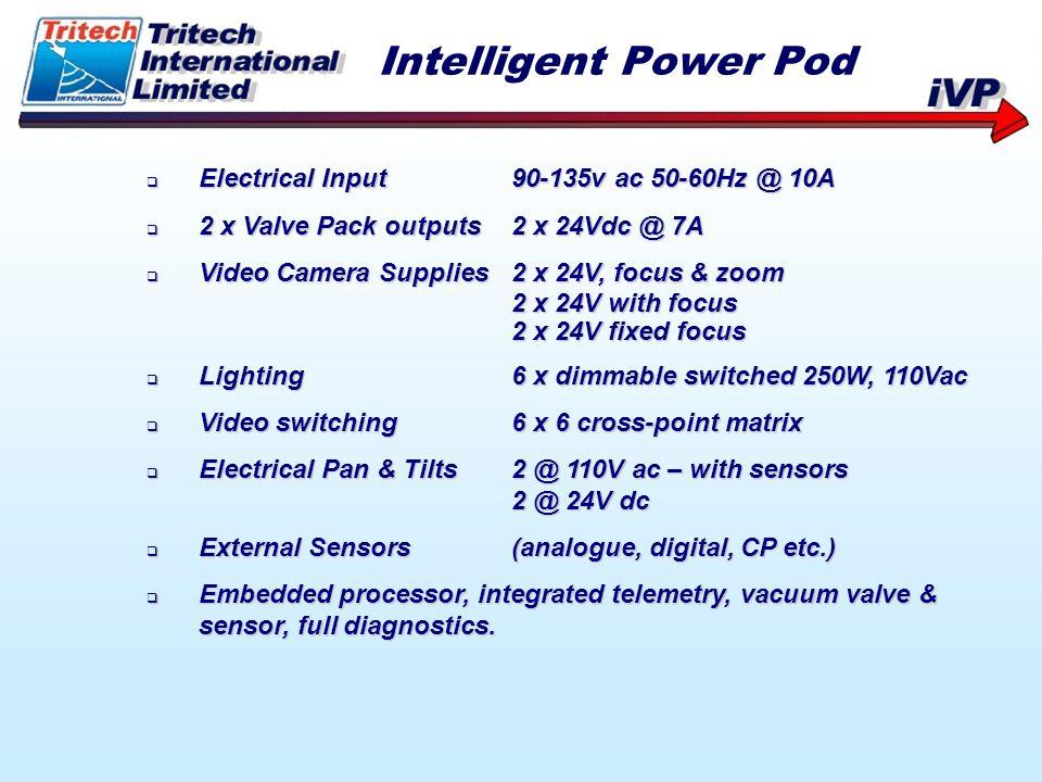 Electrical Input90-135v ac 50-60Hz @ 10A Electrical Input90-135v ac 50-60Hz @ 10A 2 x Valve Pack outputs2 x 24Vdc @ 7A 2 x Valve Pack outputs2 x 24Vdc