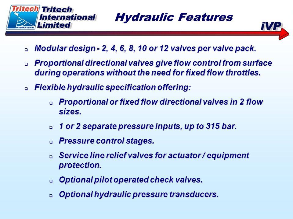 Modular design - 2, 4, 6, 8, 10 or 12 valves per valve pack. Modular design - 2, 4, 6, 8, 10 or 12 valves per valve pack. Proportional directional val