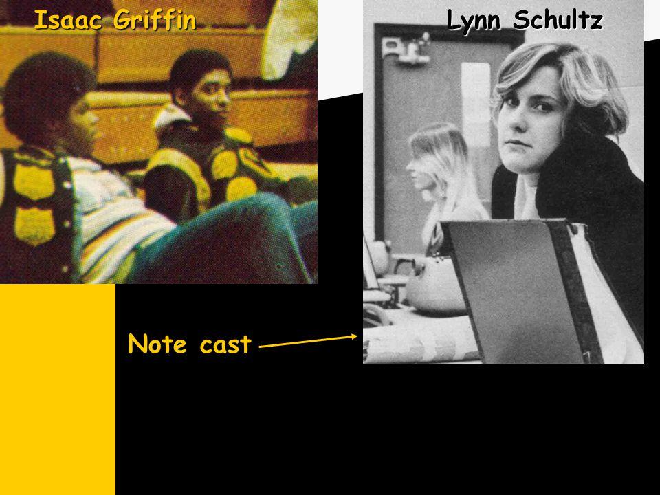 Lynn Schultz Note cast Isaac Griffin