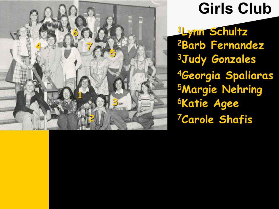 Girls Club 1 Lynn Schultz 2 Barb Fernandez 3 Judy Gonzales 6 Katie Agee 7 Carole Shafis 1 2 3 4 Georgia Spaliaras 4 5 5 Margie Nehring 6 7