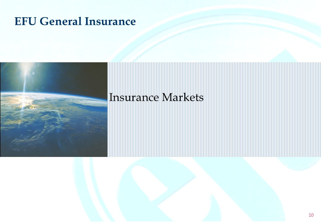 EFU General Insurance Insurance Markets 10