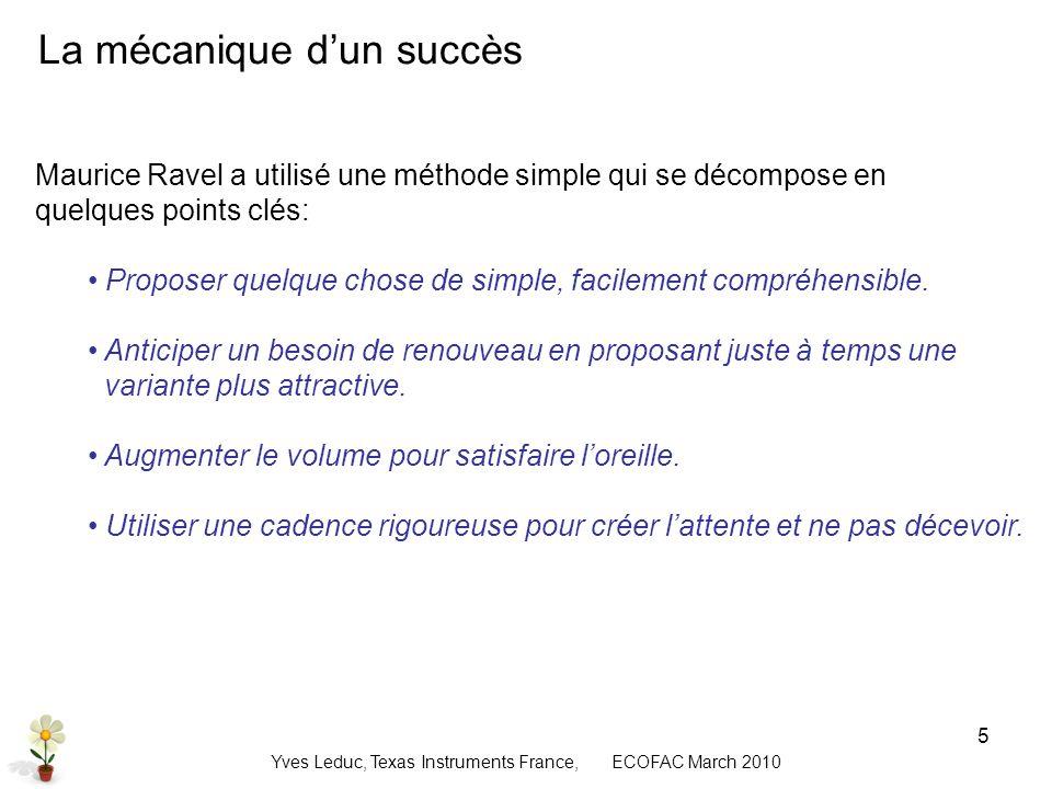 Yves Leduc, Texas Instruments France, ECOFAC March 2010 6 La loi de Moore .