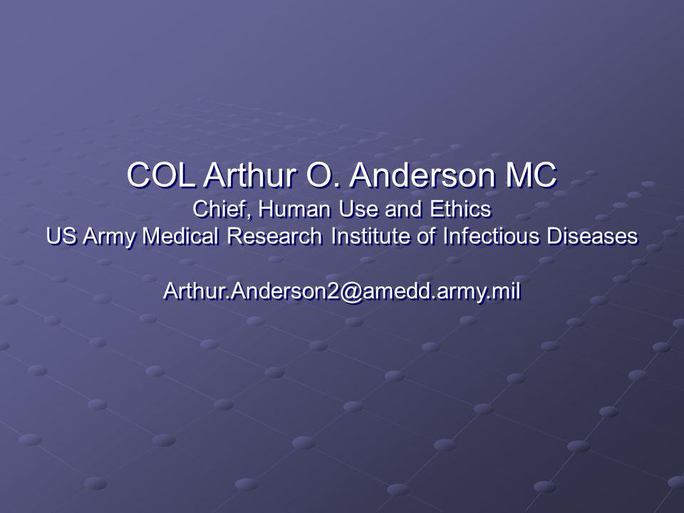 COL Arthur O.
