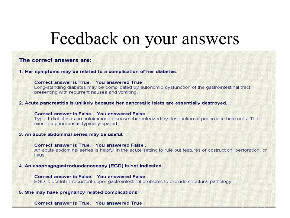 Feedback on your answers