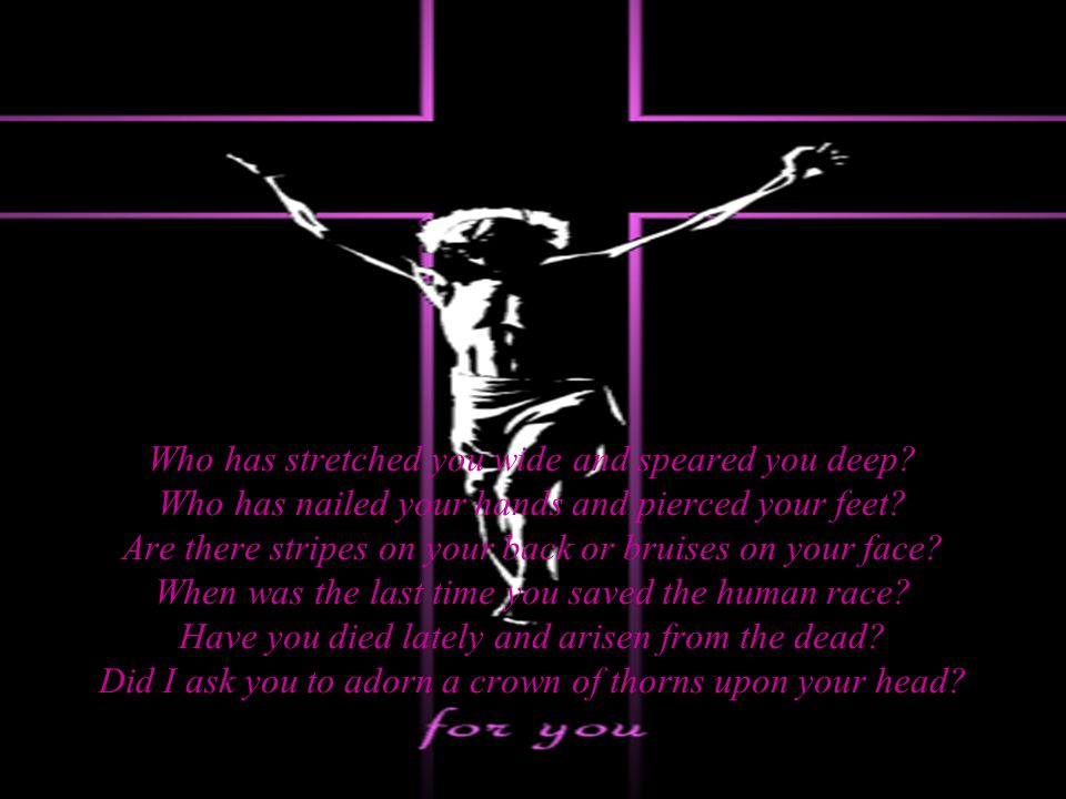 Your life is not yours, it belongs to Me I knew you before you knew, now I want you to see Your true purpose in life is based on My plans So, Ill mold you and shape you with My own hands Yes, pain you will feel and experience loss But its not as though I asked you you to carry a cross...