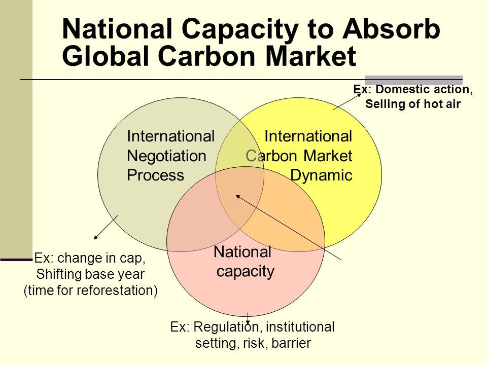 International Carbon Market Dynamic National Capacity to Absorb Global Carbon Market International Negotiation Process National capacity National Shar