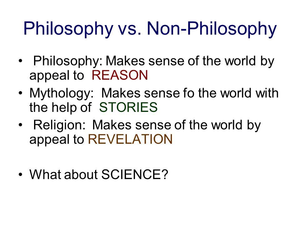 Philosophy vs.
