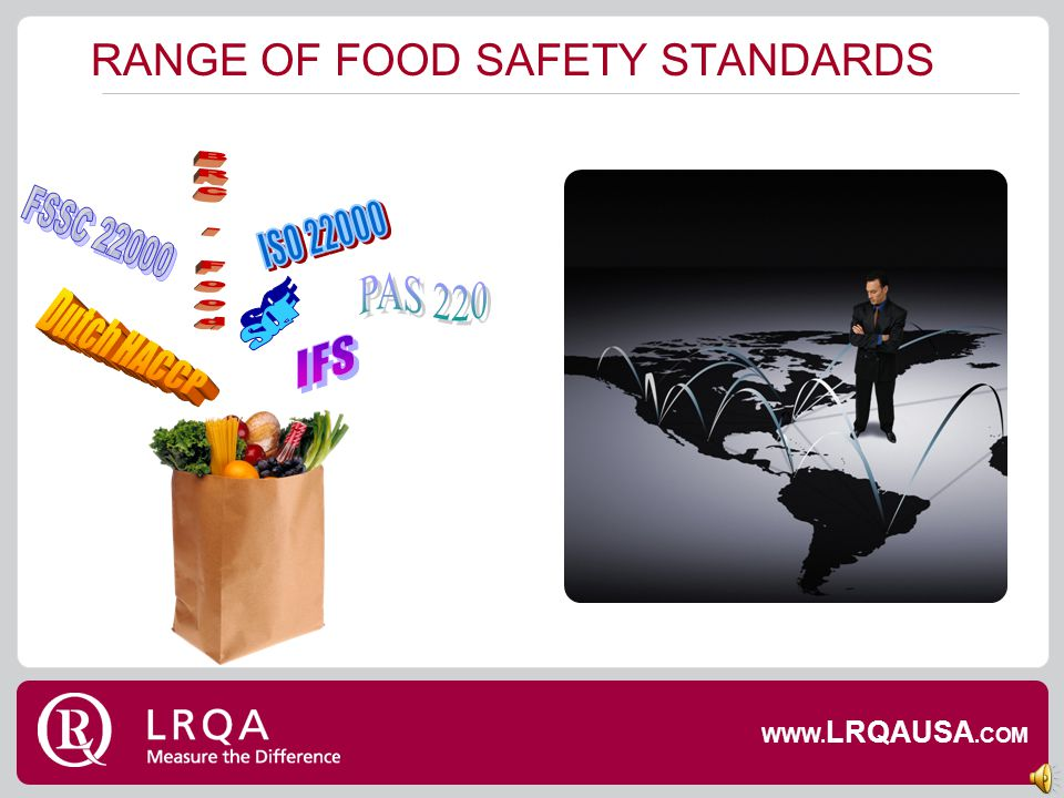 INTRODUCTION & AGENDA ISO 22000, PAS 220 & FSSC 22000: what do they cover, why were they developed, whats the impact on ISO 22000? Route to acceptance